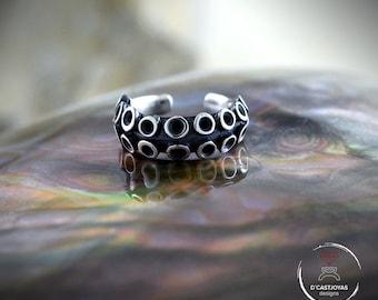 Fake Septum Ring Piercing,  Silver Octopus Tentacle septum ring, Boho Style, Ocean jewelry, Unisex Jewelry, Handmade jewelry