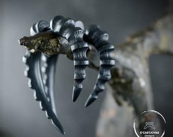 Silver Hoop earring Dragon Horn,  False dilator earring for men and women