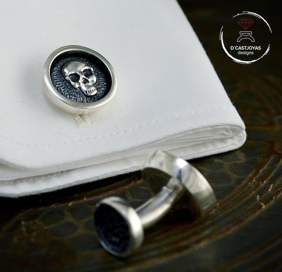 Azul Imitación de Cuero Y Gamuza joyas Case-Caja Joya Gemelos pendientes anillos