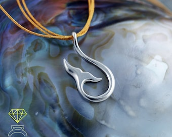 Silver  Pendant Whale tail