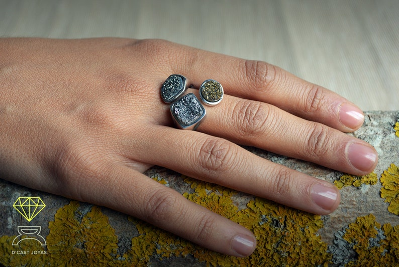 Urban style jewelr Gift for her Limited edition Solid sterling silver ring Mother/'s Day gift Contemporary jewelry Handmade silver ring