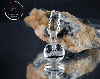 Silver pendant Jack Skellington, Silver skull pendant