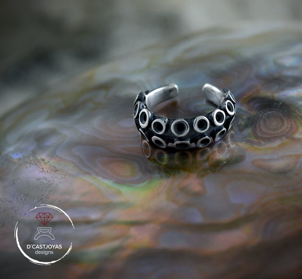 290c7b1e6d2db Fake Septum Ring Piercing, Silver Octopus Tentacle septum ring, Boho ...