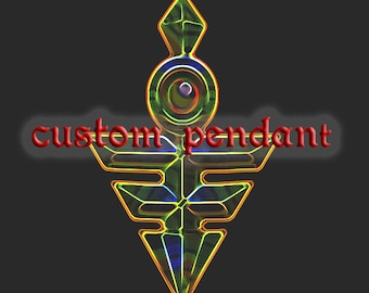 Custom pendant Inspired Yu-Gi-Oh ZEXAL Emperor Key Pendant Gold Plated.Reserved for R. First Payment