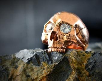 Bronze Skull ring Keith Richards  inspired, Memento mori ring