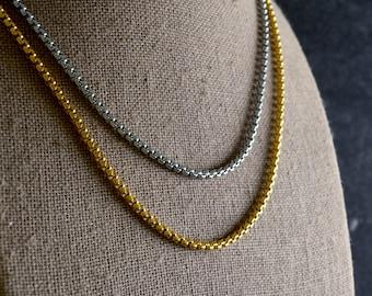 Square rolo steel chain