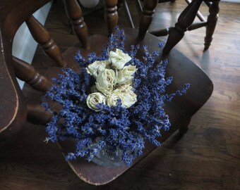 DRIED LAVENDER BOUQUET      Bridal Bouquet      Everlasting Flowers       Vase Flowers