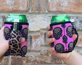 Leopard Sugars 12oz Can Handler With Pocket Can Cooler Chapstick Holder Patent Pending Insulator Handle With Pocket Regular Can