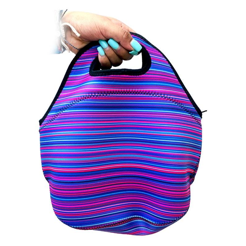 Purple Serape Lunch Bag Tote
