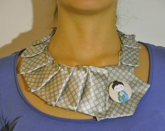 """Tie necklace with the button """"giapponesina"""""""