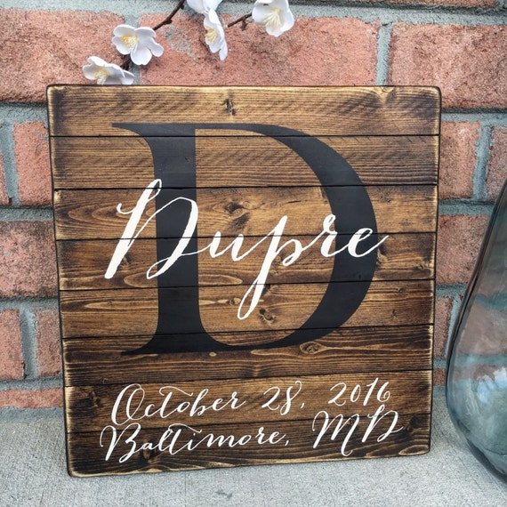 Personalized Family Name Sign Last Name Sign Family Sign