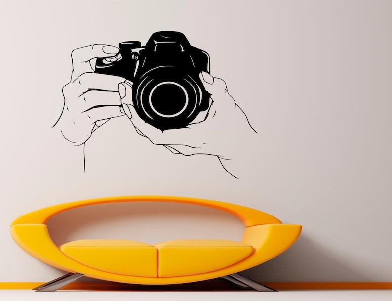 Photo Camera Wall Vinyl Decal Photography Studio Stickers Vinyl Art Design Murals Interior 2fcm4