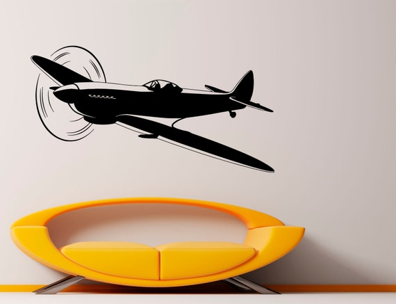 Airplane Plane Wall Vinyl Decal Aviation Sticker Beautiful Etsy - Beautiful-wall-stickers-to-decorate-your-house