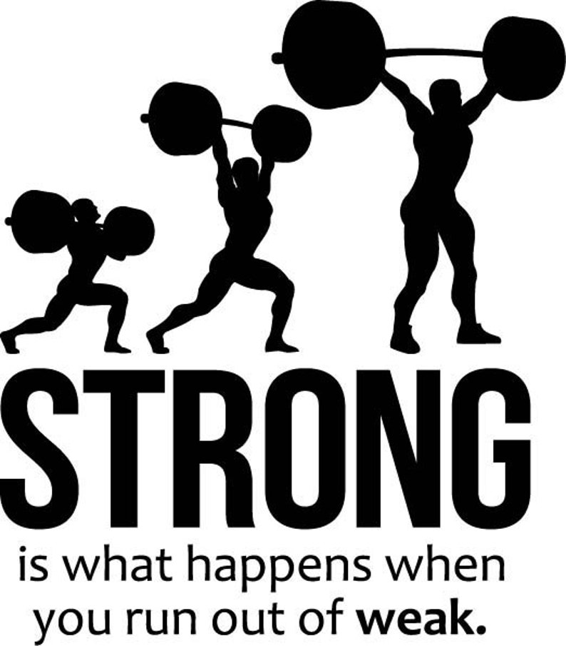 40nr Strong Wall Quotes Vinyl Decal Sticker Murals Fitness Gym Room Interior Motivational Posters Home Art Decor