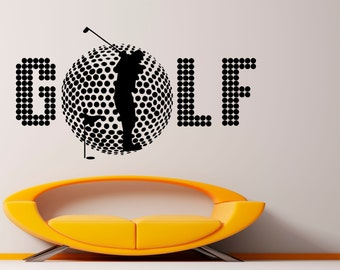 Golf Decal Wall Vinyl Sticker Spotr Game Interior Removable Home Interior Art Decor (8gob2)