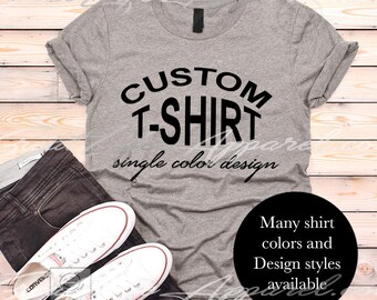 custom t shirts etsy
