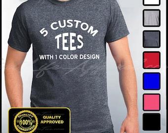 1df2dd62f844 Custom Shirts, 5 Custom T-shirts, Customize Your Tees, Personalized T Shirts,  Custom Tees