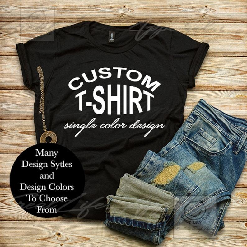 c2f02c8fe Custom Shirt Custom Women's T-shirt Choose Your Text | Etsy
