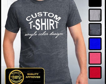 Custom T-shirt, Mens Custom Shirt, Personalized T-shirts, Customized Apparel, Custom Tee