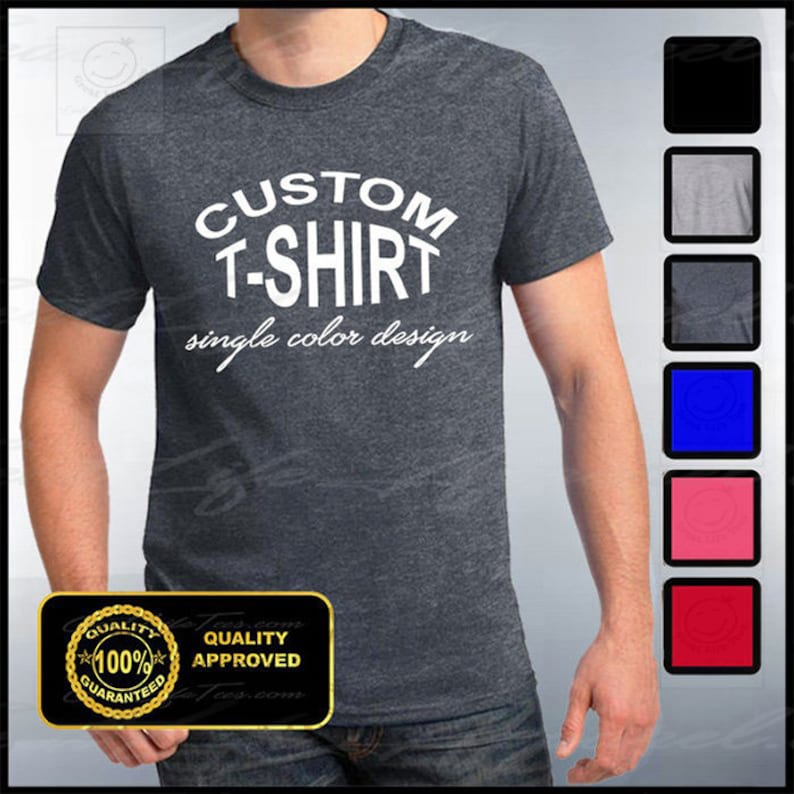 Custom T-shirt Mens Custom Shirt Personalized T-shirts image 0