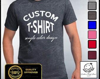 Custom T-shirt, Mens Custom Shirt, Personalized T-shirts, Customized Apparel, Custom Tees