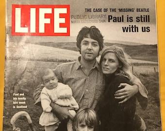 Vintage Life Magazine - Paul McCartney (The Case of the Missing Beatle) - November 7, 1969