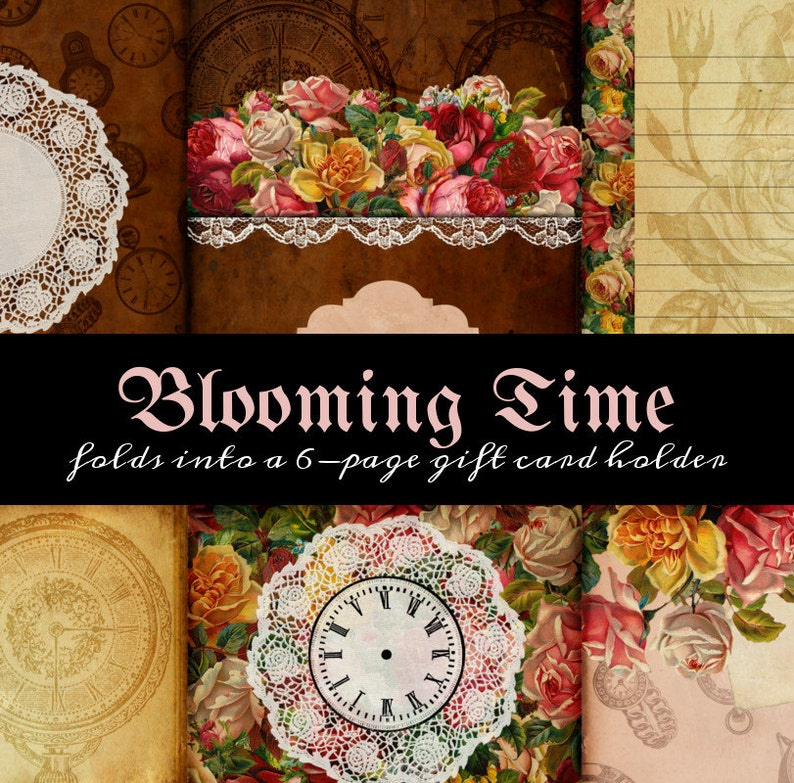 One Page Printable Scrapbooklet  Blooming Time 2  great for image 0