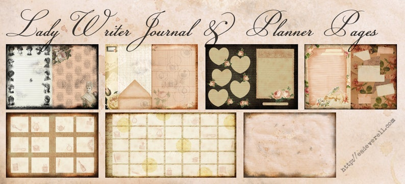 Journalling & Planner Pages  Lady Writer Printable Journal image 0