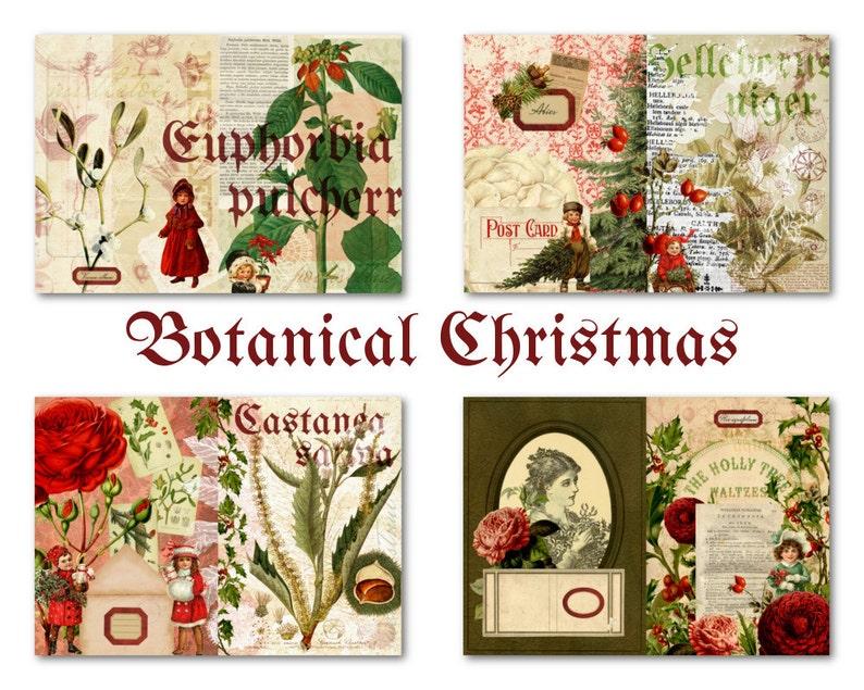 Printable Christmas Journal Kit for Junk Journal or Mini Album image 0