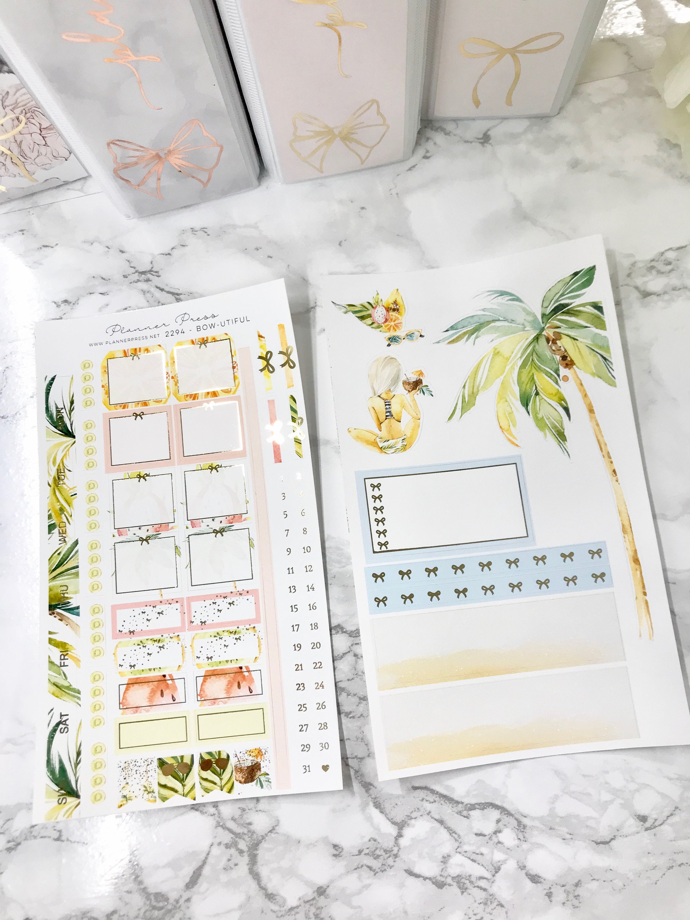 Hobonichi Weeks; Foil Months for Weekly Spreads