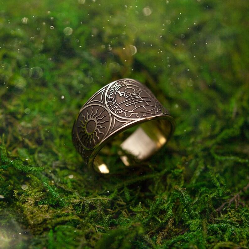 Secret Seal of Solomon adjustable ring Lesser Key of Solomon image 0