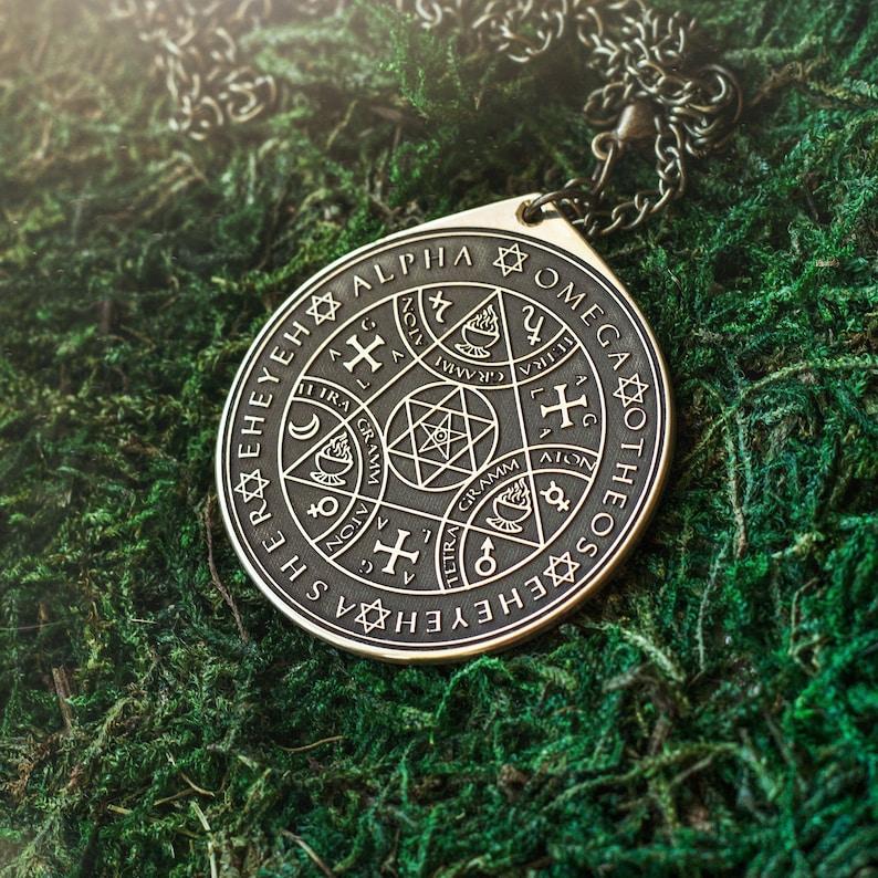 Enochian Sigil of Protection Solomon kabbalah amulet pendant talisman