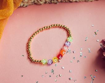 Poderosa Bracelet - Latina Power - Latina af - Poderosa - Latina Jewelry - Gold Jewelry - Beaded Bracelet - Friendship Bracelet - Beaded