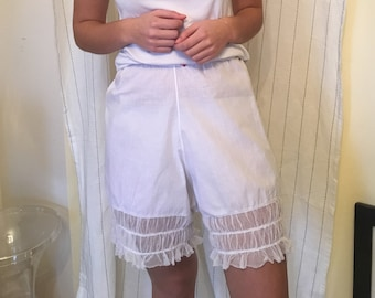 8de24e891 Vintage 1920s Tap Pants French Knickers cotton sleep shorts bloomers