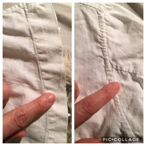 French antique edwardian victorian cotton white b… - image 10