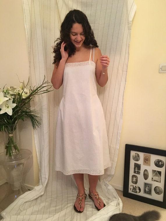 Antique 1920s Cotton slip Dress - image 2