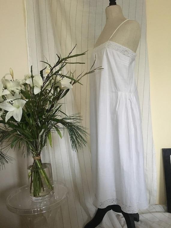 Antique 1920s Cotton slip Dress - image 10