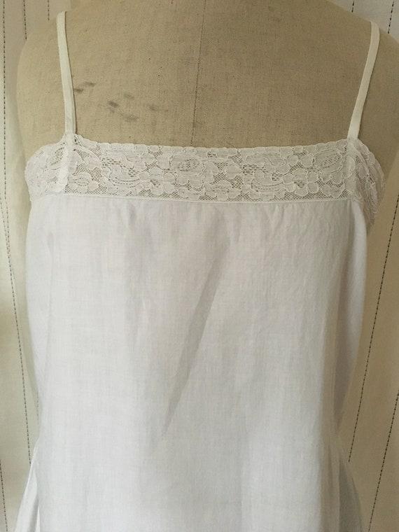 Antique 1920s Cotton slip Dress - image 5