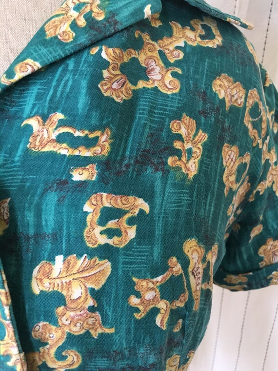 1940s green bolero jacket crop top - image 5