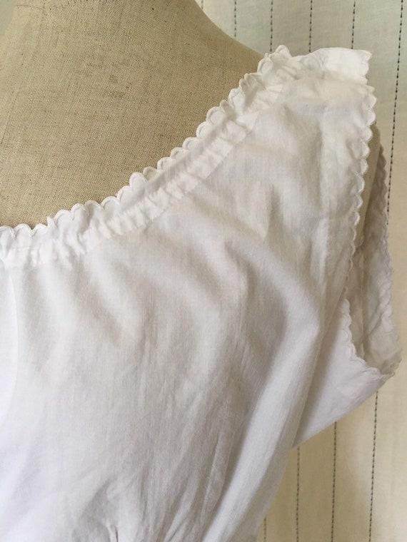 Antique Edwardian Victorian White Cotton Lacy Cor… - image 6