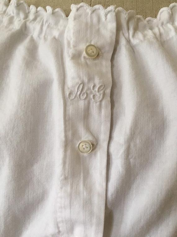 Antique Edwardian Victorian White Cotton Lacy Cor… - image 5