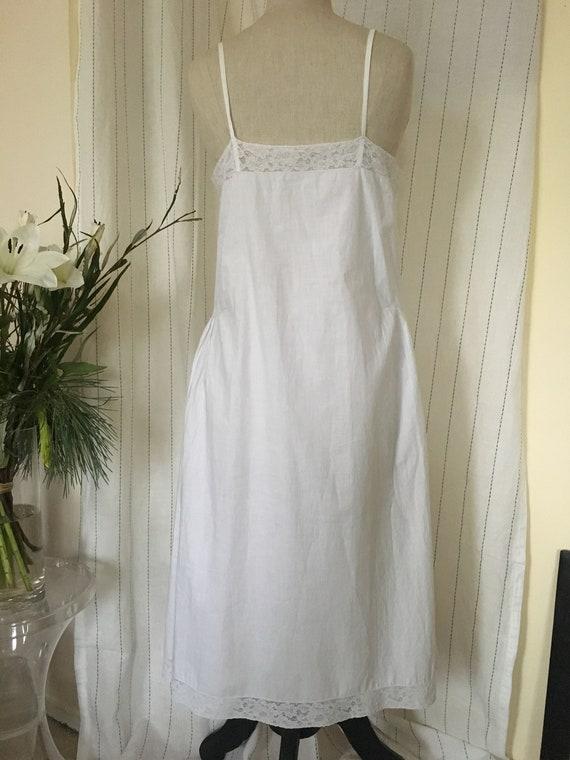 Antique 1920s Cotton slip Dress - image 8