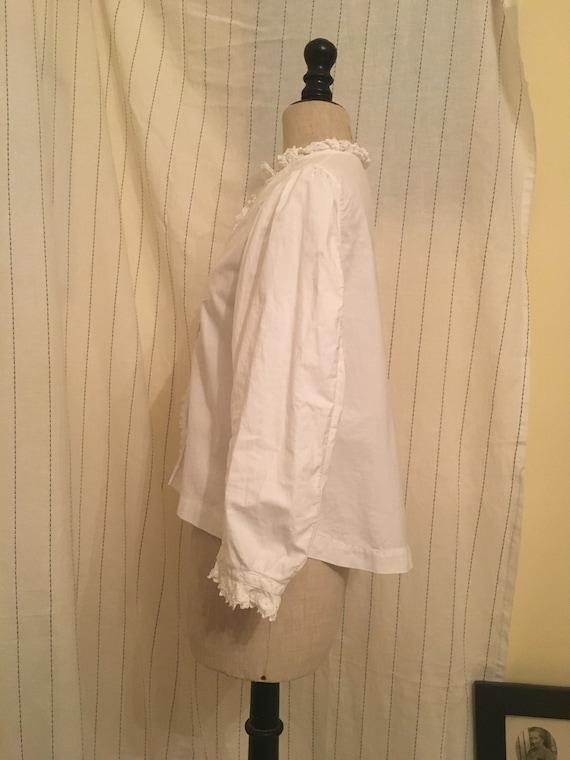 French antique edwardian victorian cotton white b… - image 9