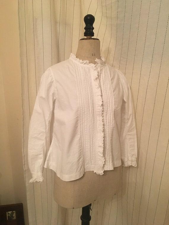 French antique edwardian victorian cotton white b… - image 4