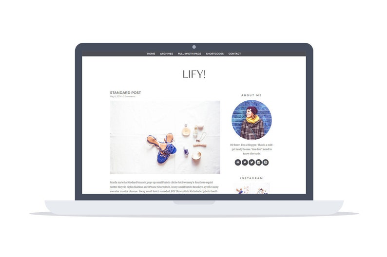 Lify  Wordpress Theme  Premade  Self Hosted  Lifystyle and image 0