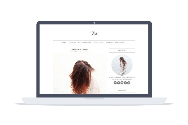 WordPress Blog Theme Fixie  Wordpress Theme  image 1