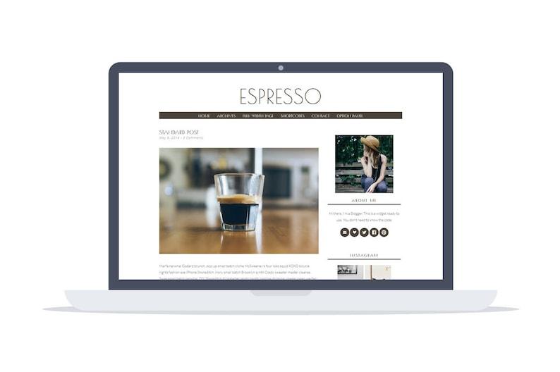 Espresso  Minimal responsive Wordpress Theme  Self Hosted  image 0