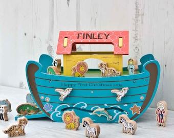 Personalised Wooden Noah's Ark