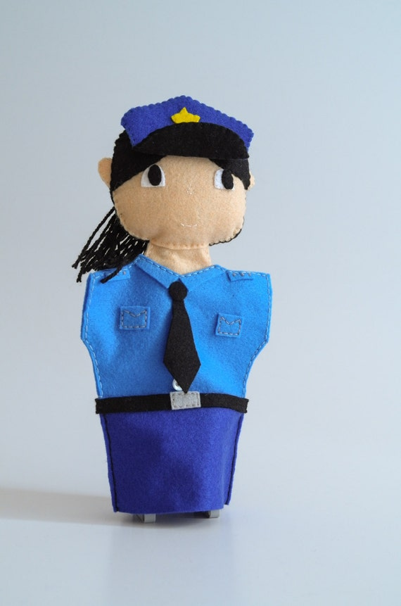 Police Officer Puppet Police Officer Gifts Police Gifts Etsy