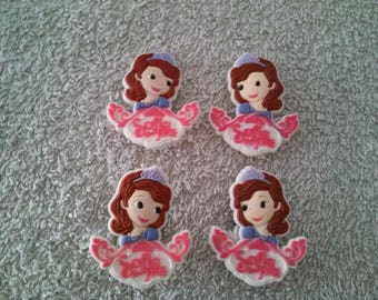 Lot 4 jibbitz Princess Sofia (badges for fangs)